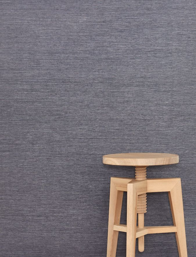 Sri Lanka is an elegant sisal textural wallcovering with a rich vivid colour palette. Featured here in Peppercorn with Workshopped's timber stool.
