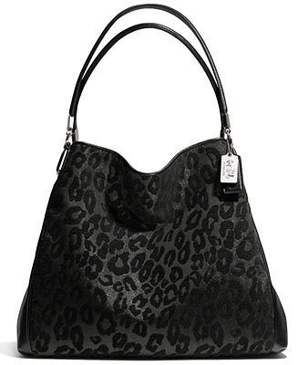 COACH MADISON SMALL PHOEBE SHOULDER BAG IN CHENILLE OCELOT - COACH - Handbags & Accessories - Macy's
