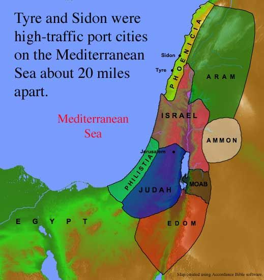 Tyre and Sidon Map | Bible Study Isaiah | Pinterest | Of ...