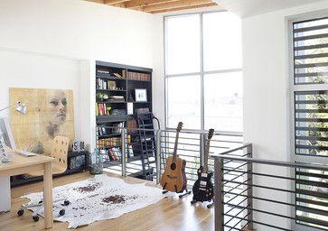 loft railing... consider laminate flooring with rugs