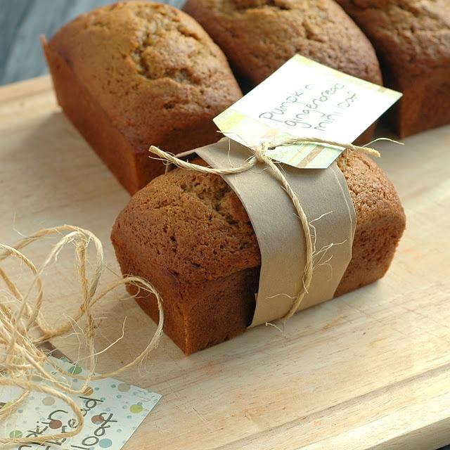 Pumpkin gingerbread mini-loaves! | Recipes-Bread | Pinterest