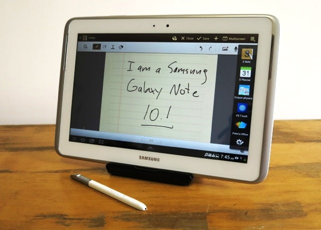 The latest tablet from Samsung takes the idea of writing on your tablet to a new level.
