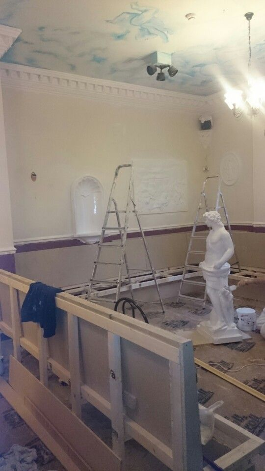New fixed seating getting fitted at Casa Romana in Whitehaven