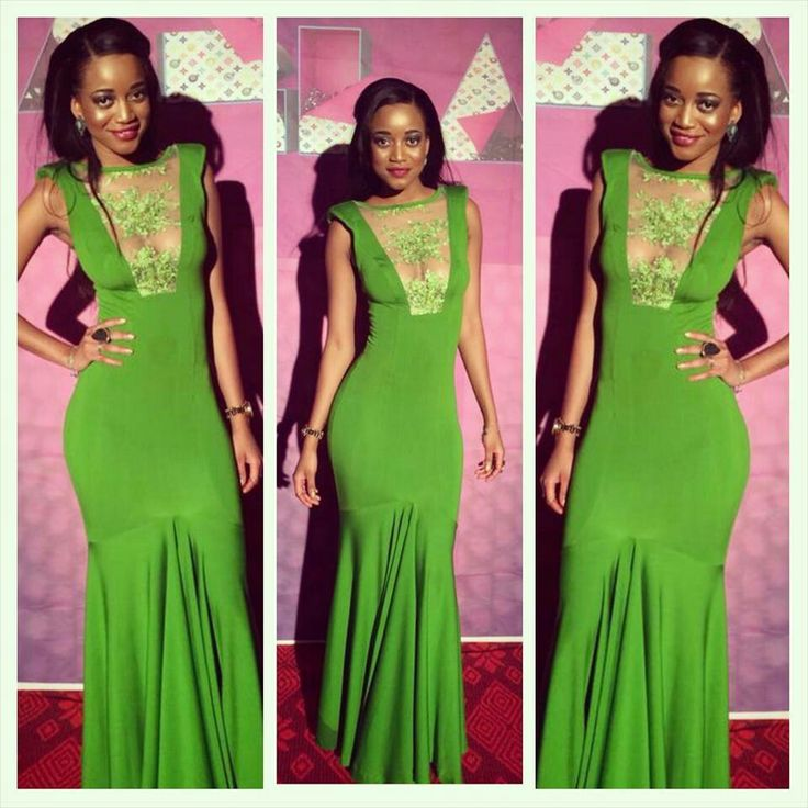 Classy light green dress