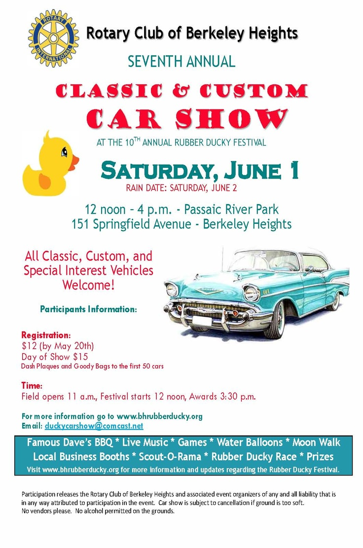 Rubbery Ducky Festival 7th annual Classic & Custom Car Show  6/1/2013