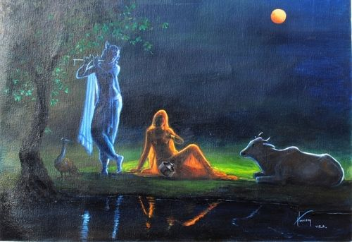 Radha and Krishna is on the platform of pure love, this is called Raga marga