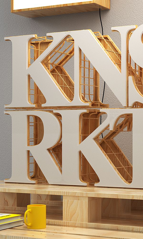 Konstruktiv by Jean-Michel Verbeeck, via Behance