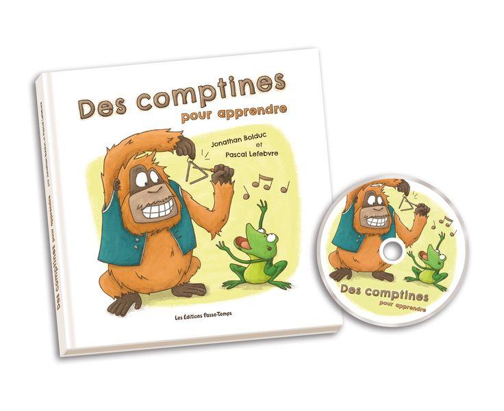 Le livre Des comptines pour apprendre présente 20 comptines éducatives accompagnés de nombreuses illustrations et intègre des idées d'activités à réaliser avec les tout-petits. Le CD, quant à lui, comporte trois versions sonores de chaque comptine: une version originale avec les paroles; une version rythmique ralentie; une version rythmique a tempo