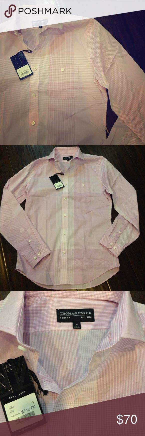 Thomas Payne button up Thomas Payne pink button up for men. Never been worn, new with tags. Thomas Payne  Shirts Dress Shirts