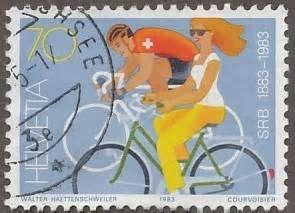 Timbre #vélo, 1983, Suisse (via TIMBROVELO)