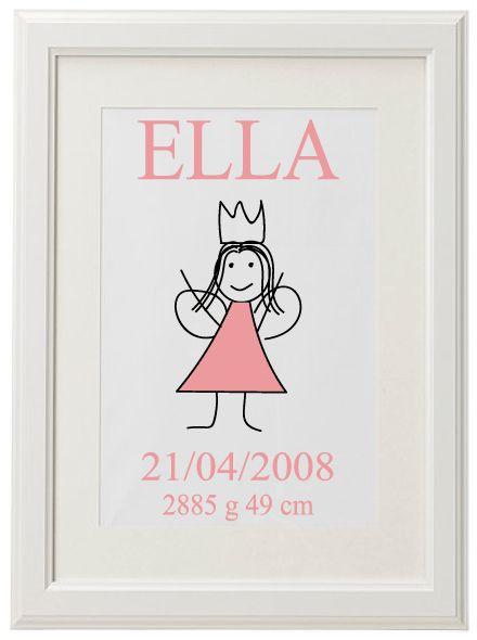 """""""Flicka"""" http://smadetaljer.se/tavlor-prints/barnrum/flicka/"""