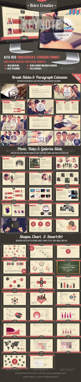 Retro Business Creative Agency Keynote Template