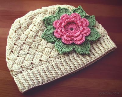 Crochet basket weave hat ♥LCH♥ with diagram and picture instructions