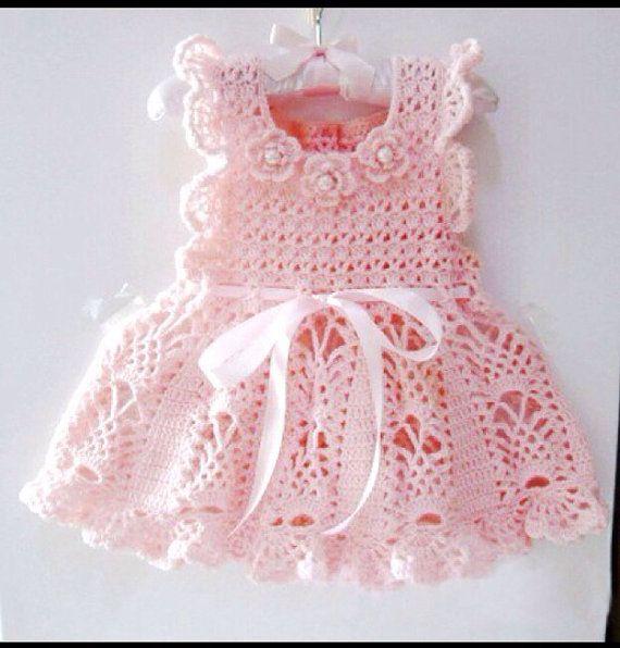 Crochet for Baby Dress, Baptism Dress, Christening Dress, Baby Clothing, Children's Clothing on Etsy, $60.00