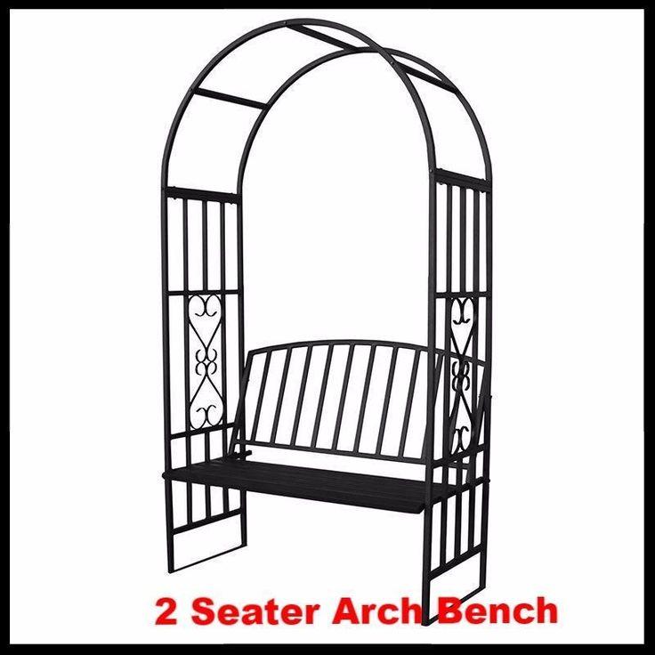 2 Seater Metal Bench Garden Arch Arbor Outdoor 2 Seater Bench Patio Furniture  in Garden & Patio, Garden & Patio Furniture, Garden Benches | eBay!
