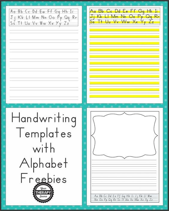 The 25+ best Handwriting template ideas on Pinterest