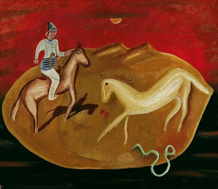 Knight, White Horse and Snake 1925