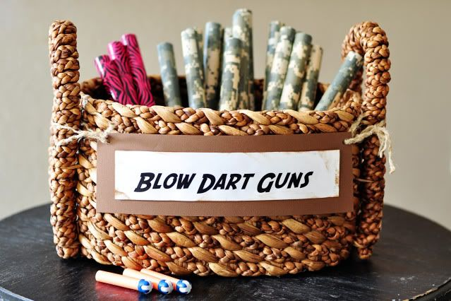 Instead of supplying your guests with the often-used bubble display, treat them to a surprise with DIY blow dart guns!