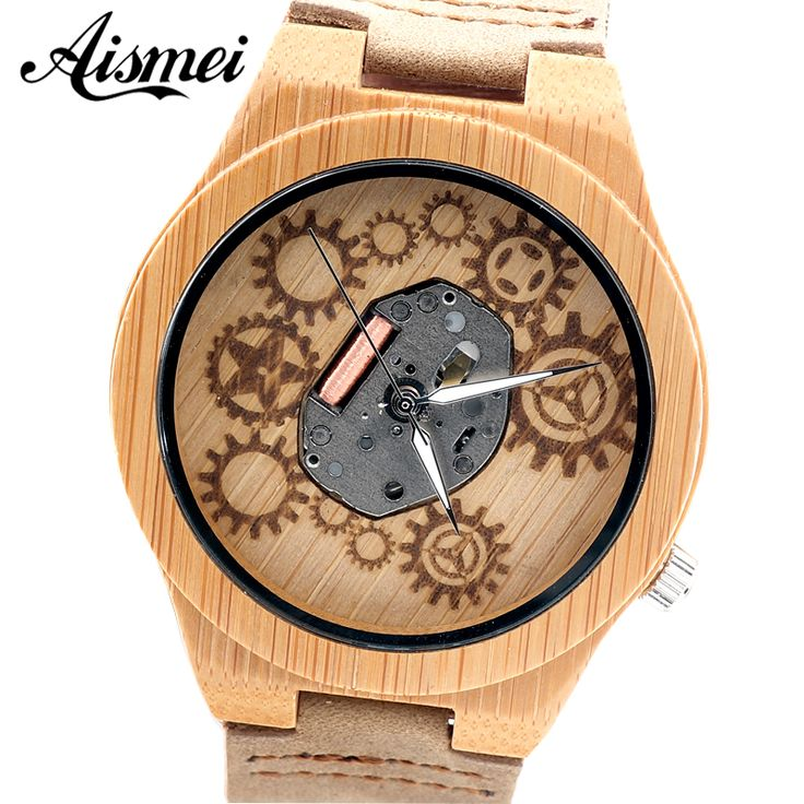 Aliexpress.com : Buy 2016 Hot sell mens wooden Watch brand Men Wooden Quartz Watch gear design face Bangle Natural Wood Watches Relogio with box from Reliable relogio suppliers on Topsell Fashion Trading CO.,LTD