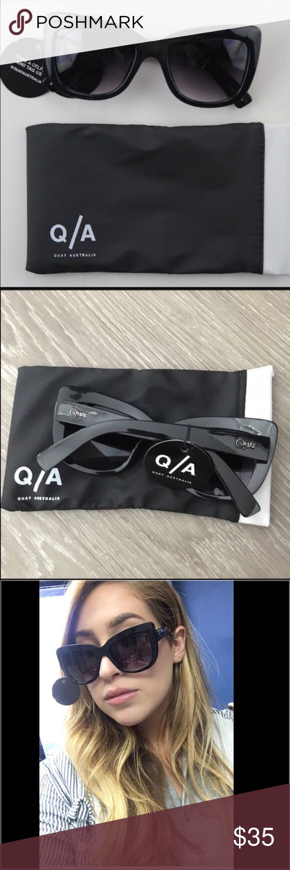 Quay Australian Sunglasses Quay Australian Sunglasses.  NWT.  Love this pair from Quay!  Perfect cat eye and smokey gray lenses. Quay Australia Accessories Glasses