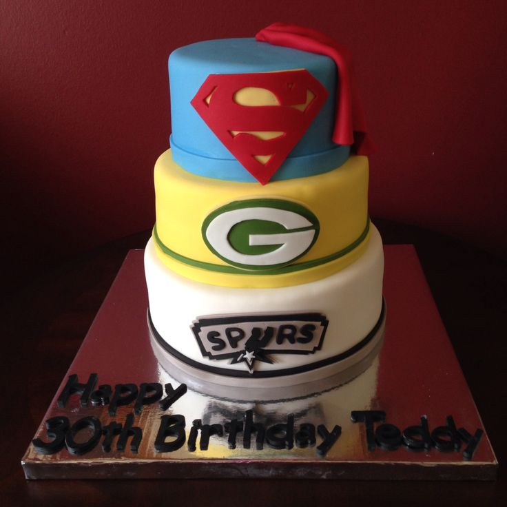 Birthday Cakes For Dogs San Antonio Tx ~ Superman green bay packers san antonio spurs birthday cake cakes pinterest