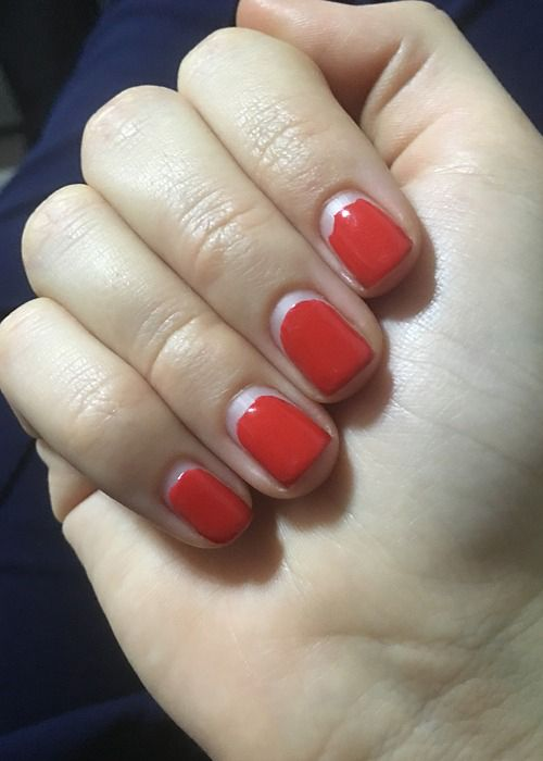 Pure Red Color Nails Make Your Hands Pretty as Ever