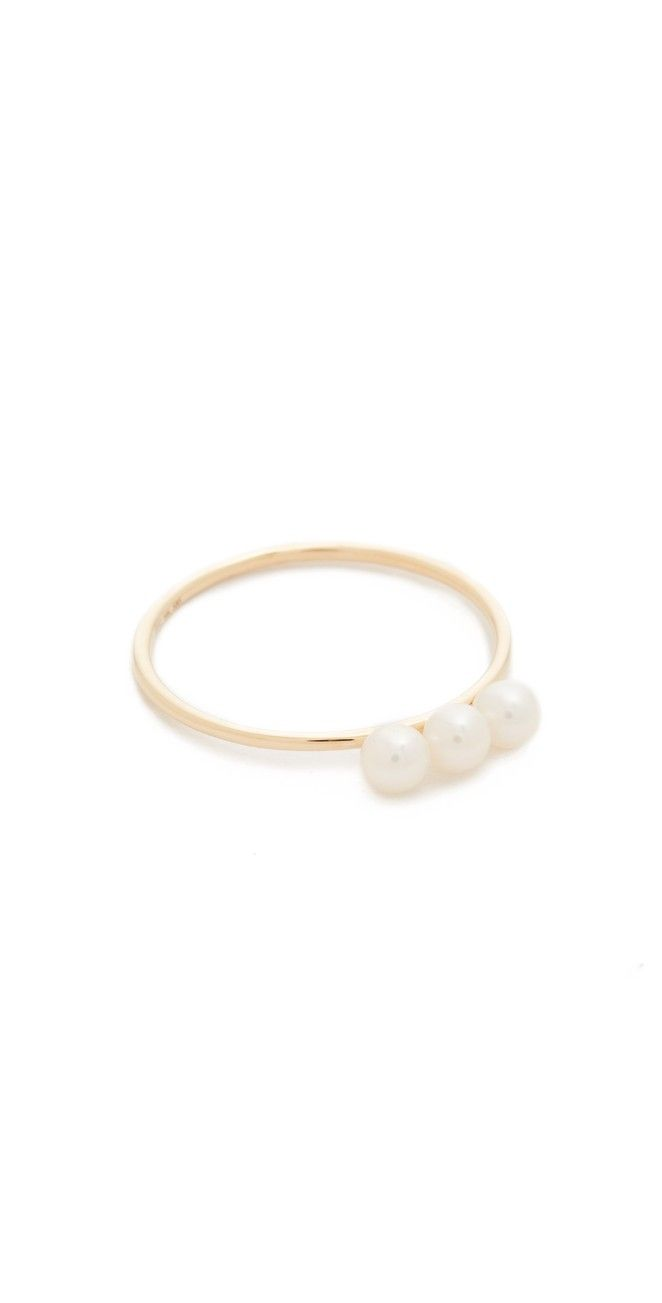 EF Collection Triple Freshwater Cultured Pearl Stack Ring | SHOPBOP