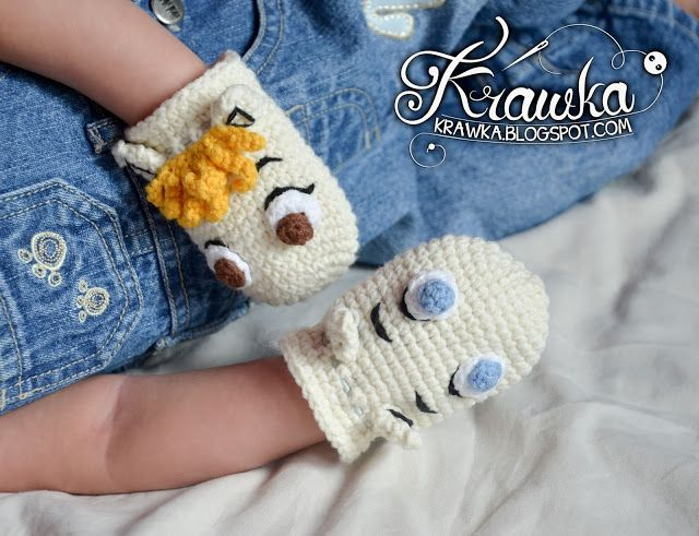 Moomins - anti scratch gloves for babies FREE PATTERN