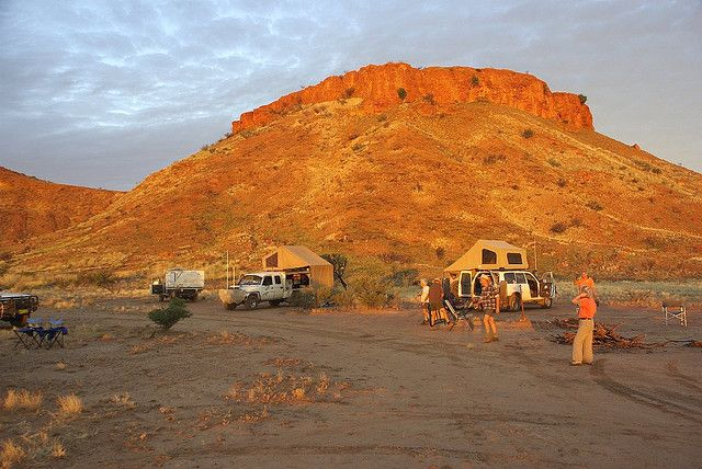 Camp on the Canning Stock route.