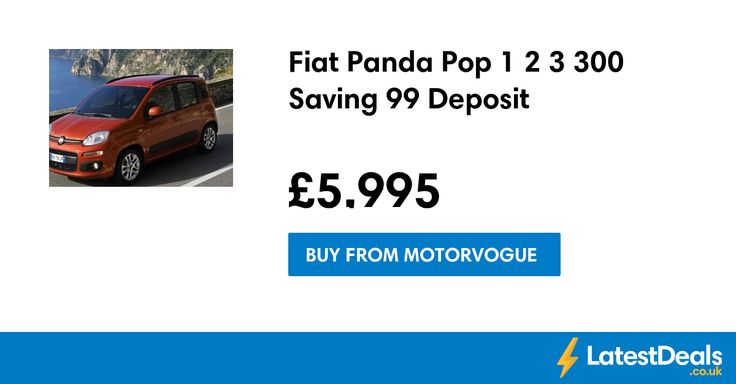 Fiat Panda Pop 1.2 Save £3,300 & £99 Deposit, £5,995 at Motorvogue