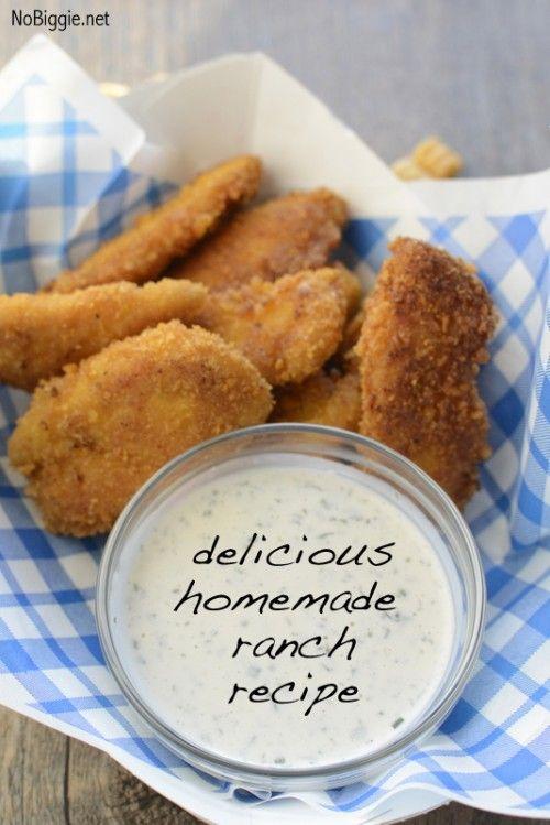 homemade ranch dressing recipe   NoBiggie.net