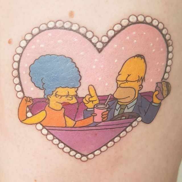 @ngxtattoo 10 Christmas Bonus points if you can guess the quote, episode and season this reference is from. ---------------------------------------------- #thesimpsonstattoo #thesimpsons #simpsonstattoo #simpsons #tattoo #moe #inked #tat #tattyslip #simpsonsfan #homer #bart #lisa #maggie #marge #mattgroening #futurama #cartoontattoo #cartoontats #epictattoo #simpsonstat