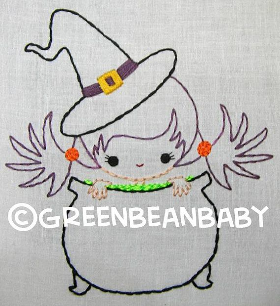 Pirate Boy Candy Corn boy and Witch girl in Pot by greenbeanbaby