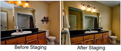 #Bathroom #StagingTips - Leovan Design  #homestaging #realestate #beforeandafter
