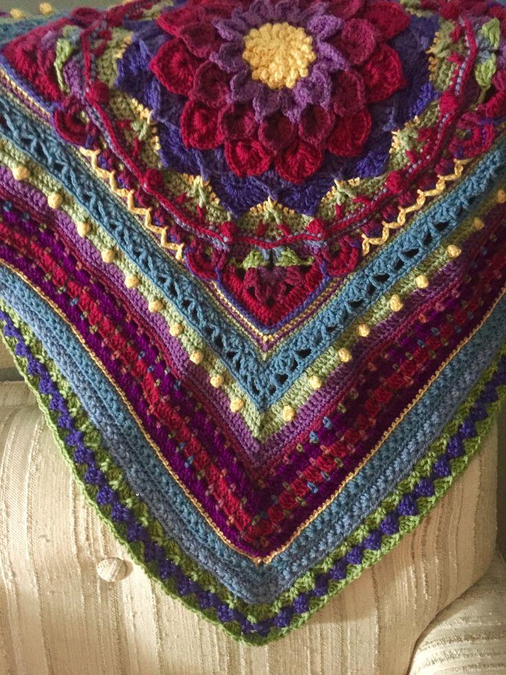 Afghan I'm working on in a Crochet-a-long (CAL) called ...