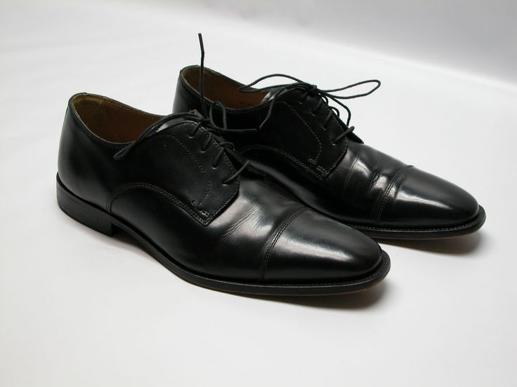 Bostonian Brown Leather Dress Formal Cap Toe Oxfords Shoes Men's Size 9 D / B
