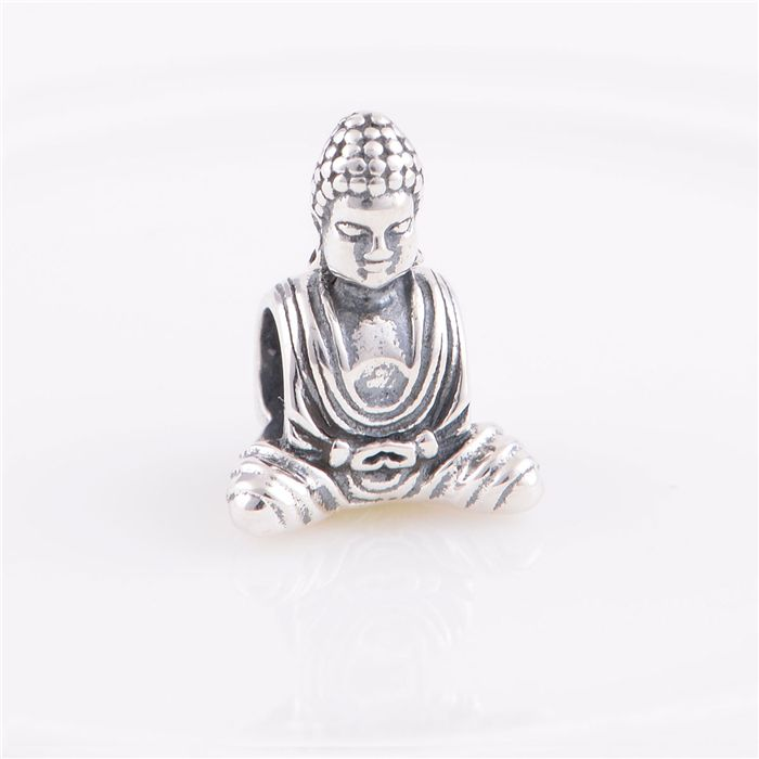 Sterling Silver 925 Fits Chamilia Charms Bracelet Chinese Buddha Religion Charm Beads European Style Women DIYJewelry #Affiliate