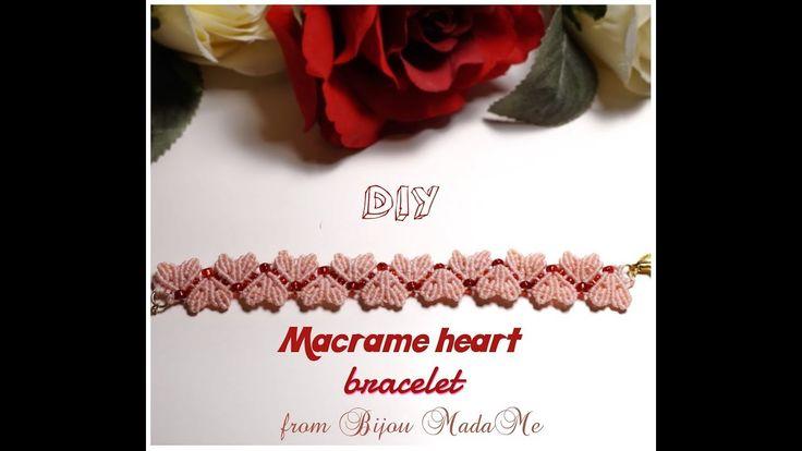 Macrame bracelet tutorial. DIY macrame jewelry & crafts. How to make mac...