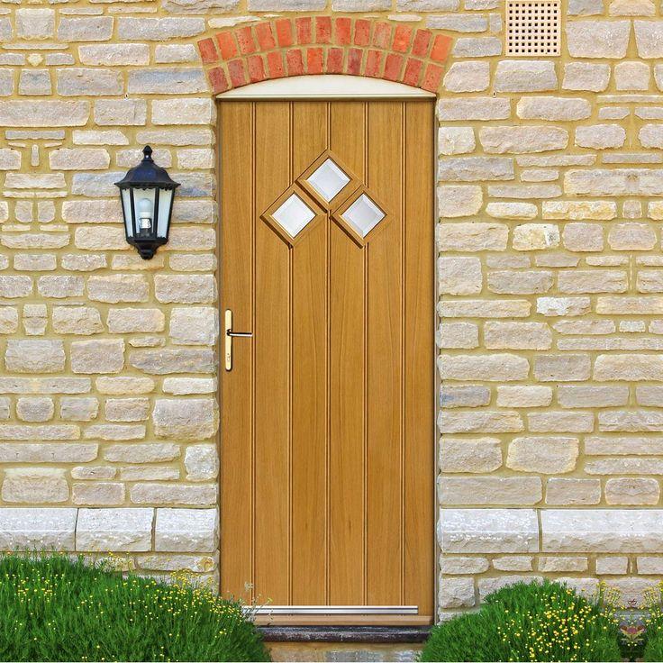 JBK Bordeaux External Oak Door with Therm-L Safety Tri Glazing. #externaldoor #tripleglazeddoor #externaldoorwithglass