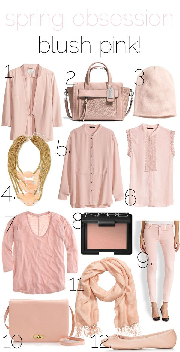 jillgg's good life (for less) | a style blog: spring obsession: blush pink!