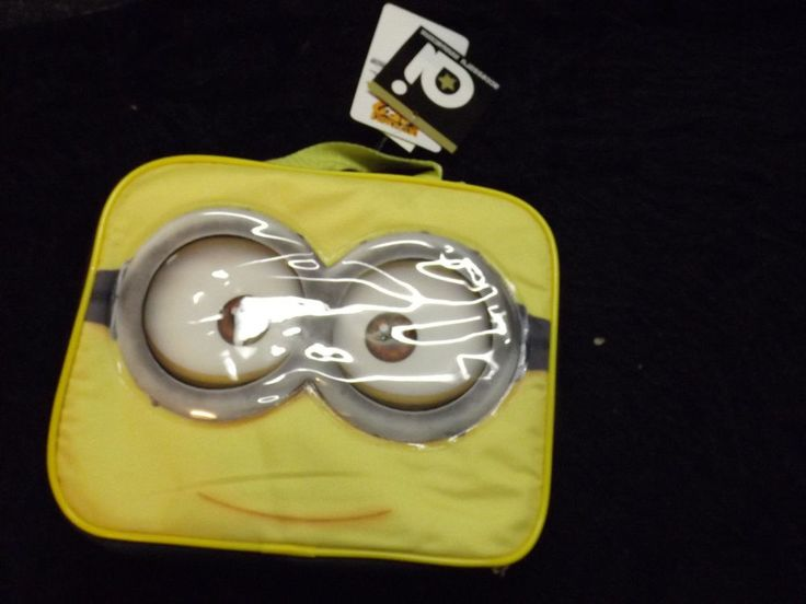 New Despicable Me 2 yellow Minion lunch box  school supplies Universal Studious