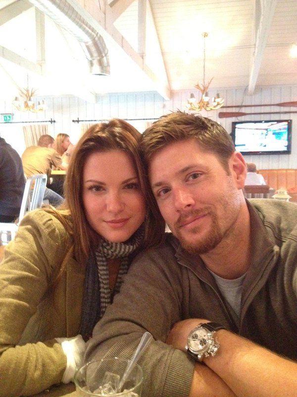 Jensen Ackles and his wife, Danneel Harris ~ so cute together!