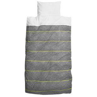 Snurk New School Quilt Cover Set - Fluro Yellow