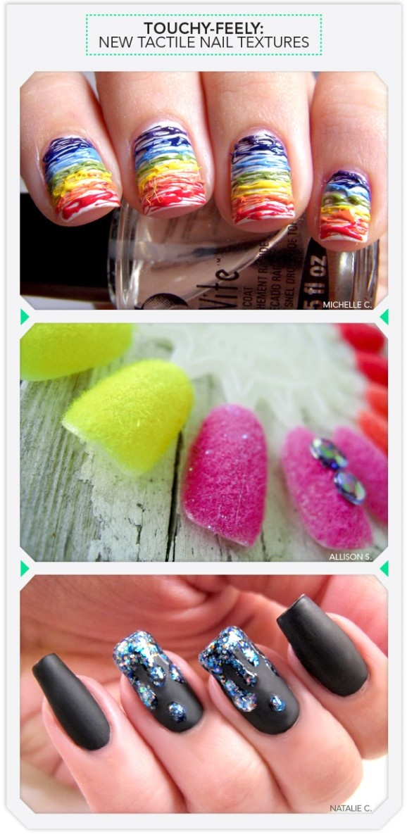 Different nail textures.