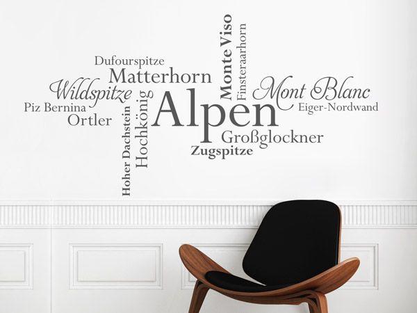 23 best Alpen Wandtattoos als alpine Dekoideen images on - deko ideen hexagon wabenmuster modern