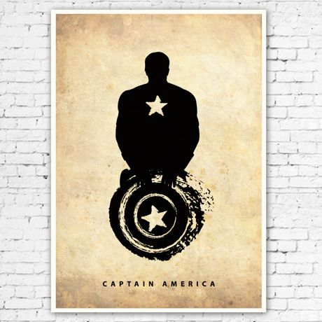 コミックブックスから飛び出したキャプテンアメリカ - A3ポスター by Marcus Mok