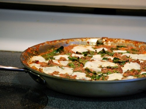 One-Pan Lasagna by www.theredheadbaker.com