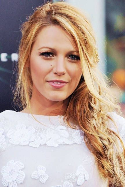 Get Blake Lively's romantic, undone side braid #hair