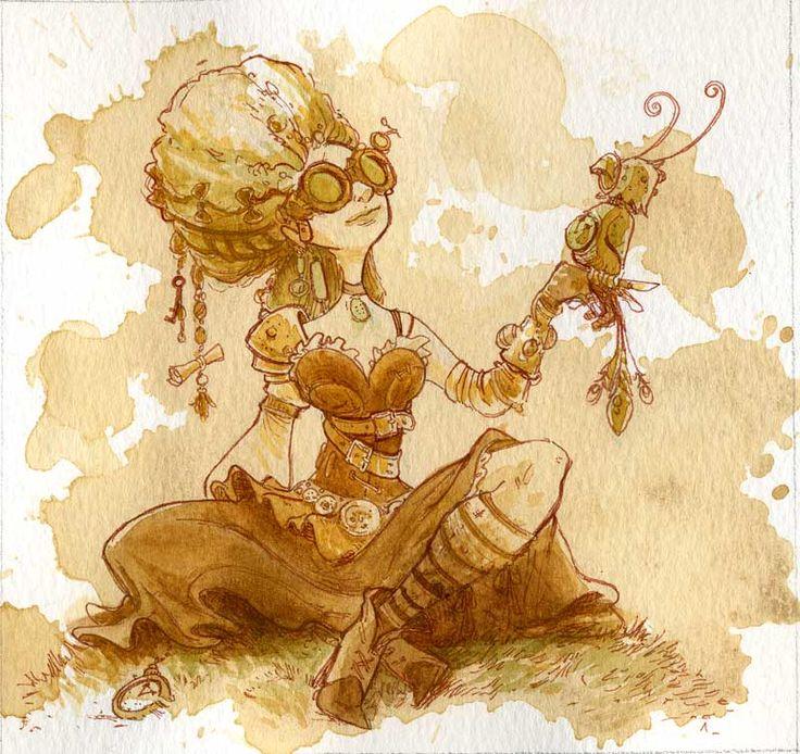 » Brian Kesinger. Tea Girls » Картинки, эскизы, рисунки карандашом и тушью.
