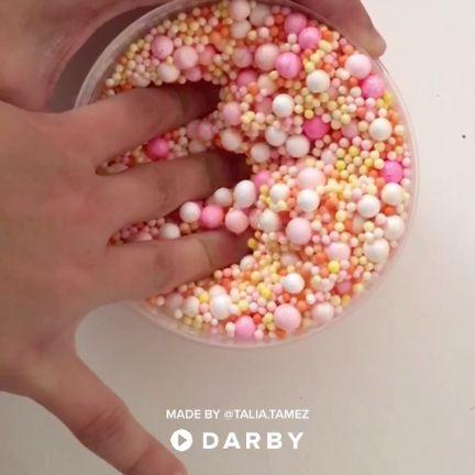 How to Make Orange Slime with Foam Beads #darbysmart #slime #asmr #ideasforkids